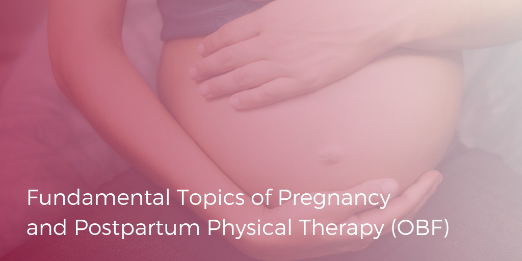 Fundamental Topics of Pregnancy & Postpartum Physical Therapy