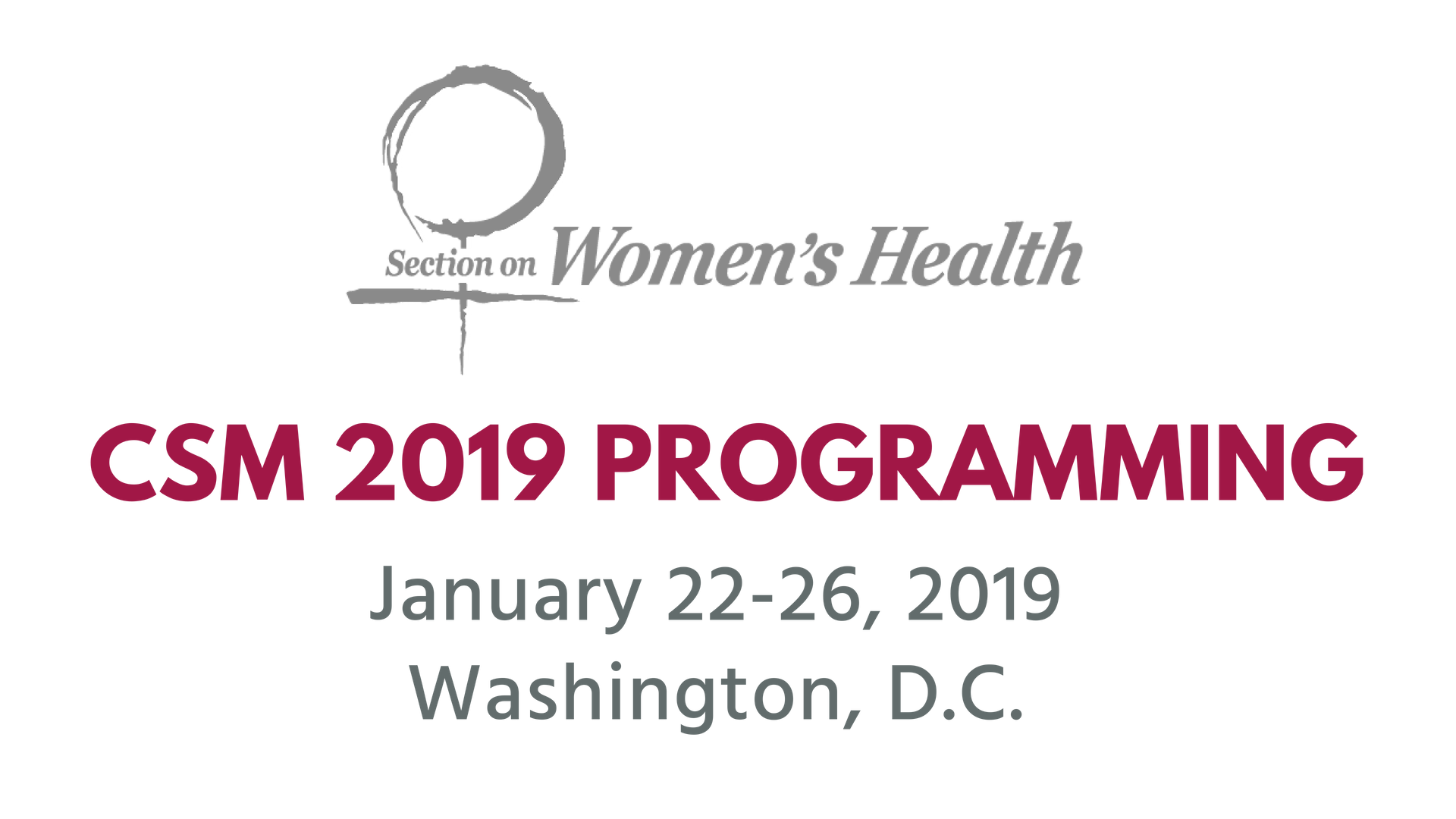CSM 2019 SoWH Programming