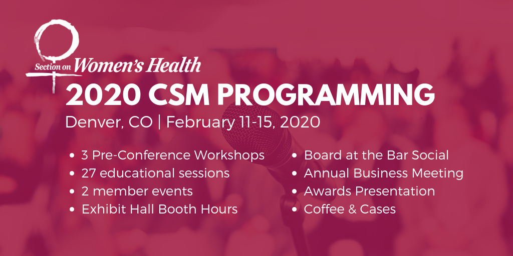 2020 CSM Section on Women's Health
